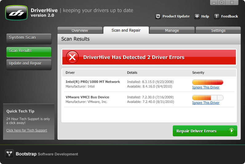 DriverHive Screenshot